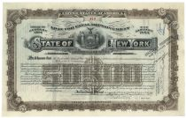 "State Of New York ""Loan For Canal Improvement"" Issued To William K. Vanderbilt, Jr. - $50,000"