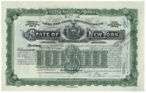 "State Of New York ""Loan For Canal Improvement"" $10,000 Bond - Issued To William K. Vanderbilt, Jr."