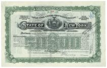 "State Of New York ""Loan For Canal Improvement"" For $50,000 - Issued To William K. Vanderbilt, Jr."