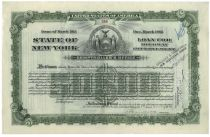 State Of New York $50,000 Loan For Highway Improvement-issued To William K. Vanderbilt, Jr.