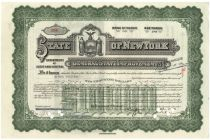 State Of New York General State Improvements Bond For $10,000 Issued To George Vanderbilt