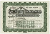 State Of New York General State Improvements Bond For $1,000 - Issued To George Vanderbilt