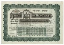 State Of New York General State Improvements Bond For $10,000- Issued To Harold S. Vanderbilt