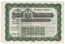 State Of New York General State Improvements Bond For $1000 - Issued To Harold S. Vanderbilt