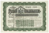 State Of New York General State Improvements Bond - Issued To Alfred G. Vanderbilt