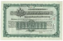 "State Of New York ""Loan For Barge Canal Terminals"" - Issued To Harold S. Vanderbilt"
