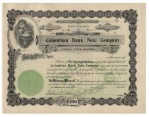 Columbian Bank Note Company - Unissued Stock
