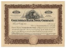 Columbian Bank Note Company - Unissued
