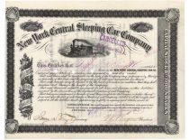 New York Central Sleeping Car Company - Issued To George B. Grinnell