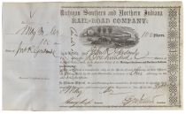 Michigan Southern And Northern Indiana Rail-road Company - Signed By Henry Keep As Treasurer