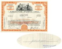 Abacus Fund - Issued To And Signed By John Sterling Rockefeller