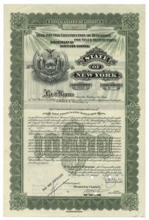 State Of New York Loan For The Construction Of Buildings For State Institutions - Issued To Harold S. Vanderbilt