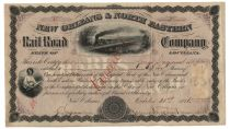 Stock Certificate Signed By Confederate General James Longstreet