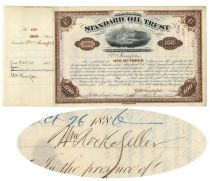 Standard Oil Trust Issued To And Signed On Verso By William Rockefeller