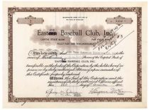 An Easton Baseball Club Stock Signed By Legendary Baseball Executive George Weiss