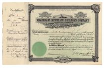 Bradshaw Mountain Railroad Company Issued To And Signed By George Washington Kretzinger