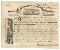 Boston And Providence Railroad Corporation Issued To John Murray Forbes