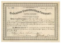 Columbus Construction Company Issued To Anthony N. Brady