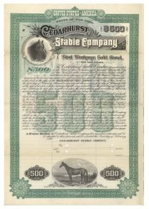 Cedarhurst Stable Company Gold Bond