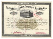 Brantford Carriage Company, Of Brantford, Ontario
