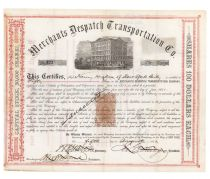 Merchants Despatch Transportation Co. Signed As President By James C. Fargo