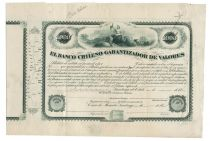 A Rare Chilean Bank Bond Proof By American Bank Note Company