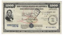 1950 Series G 1,000 Dollar Savings Bond