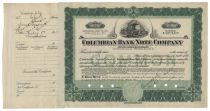 Columbian Bank Note Company Certificate #C1