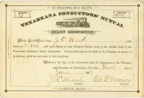 Texarkana Conductors' Mutual Relief Association - Arkansas
