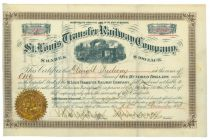 St. Louis Transfer Railway Company Stock Certificate
