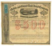 Mobile and Girard Rail Road Company Bond