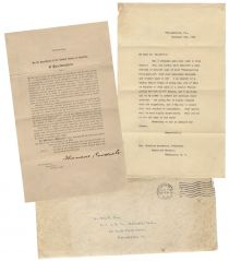 Theordore Roosevelt Sends a Signed Copy of A 1906 Thanksgiving Proclamation At The Request of A Philadelphia Teacher