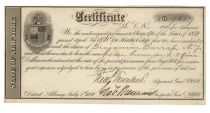 State of New York Certificate Of Audited Or Revised Claims For The War Of 1812 Signed By Frederick Townsend