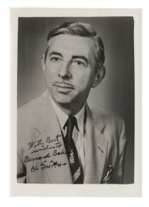 Cartoonist Al Smith Signed Photo