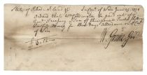 Rhode Island Council of War Document Signed by Governor William Greene