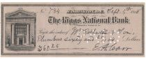 Civil War General Eugene Carr Handwrites And Signs A Check