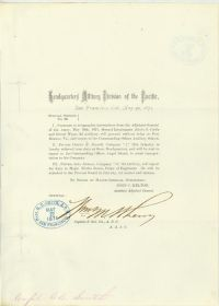 Union General William Wherry Signed Document