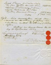 Future Secretary Of The Interior Columbus Delano Signs A Document