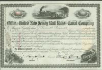James Roosevelt Roosevelt Signs An United New Jersey Railroad And Canal Company Stock