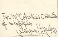 A Signature Of Clarence H. MacKay
