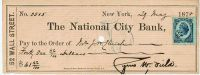 Cyrus Field Signed Check– Promoter of the Atlantic Cable
