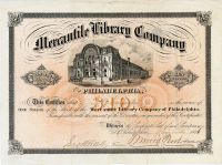 Merchantile Library Company Signed By Thomas Morris Perot