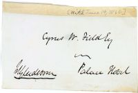 A William Gladstone Signed Cover Panel Addressed To Cyrus Field