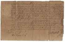 Colonial Governor Gurdon Saltonstall Appoints A Lieutenant In The Second Company Of Stratford in 1714