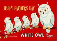 Happy Fathers Day White Owl Inner Label