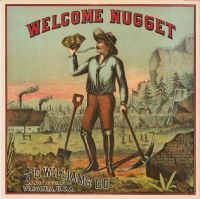 Welcome Nugget Cut Plug Label
