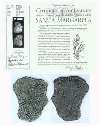 A Coin Recovered By Famed Treasure Hunter Mel Fisher From The Santa Margarita