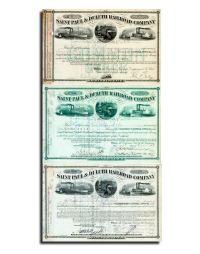 A Choice Set Of Three Different St. Paul & Duluth RR Stocks