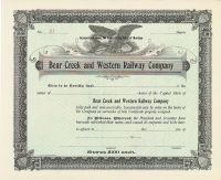 Bear Creek And Western Railway Company