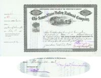 The James River Valley RR Co. Issued To And Signed By Crawford Livingston